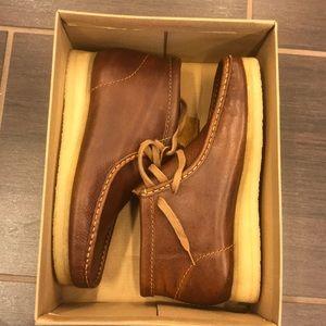 Clark's Wallabee Boot Tan Tumbled Size 8